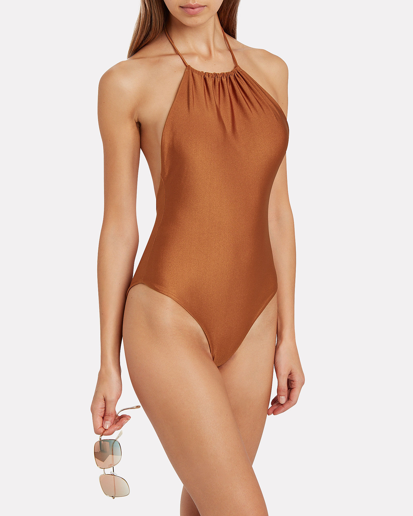 Kate One-Piece Swimsuit, COPPER, hi-res