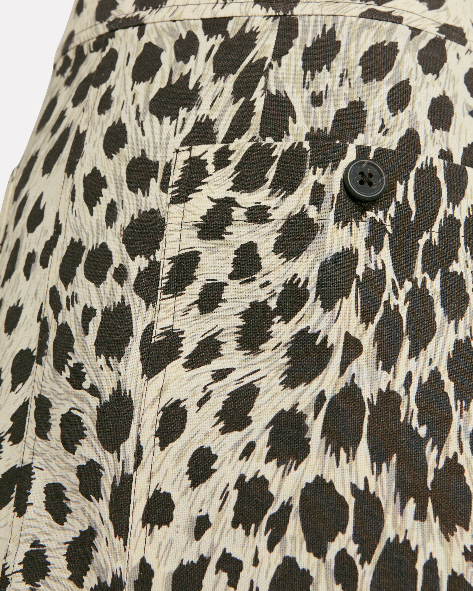 Leopard Print Cotton Mini Skirt, LEOPARD, hi-res
