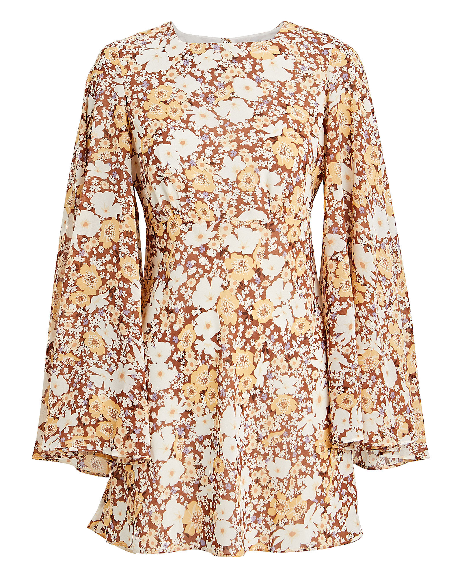 Dixie Floral Circle Sleeve Dress, MULTI, hi-res