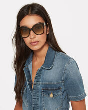 Oversized Plaque Sunglasses, BROWN, hi-res