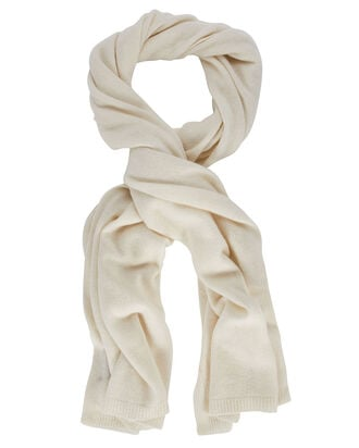 Cashmere Scarf, IVORY, hi-res