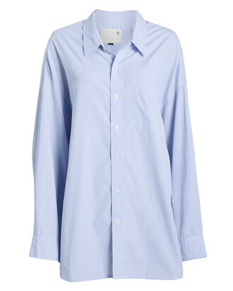 Striped Oxford Poplin Shirt, LIGHT BLUE/PINSTRIPE, hi-res