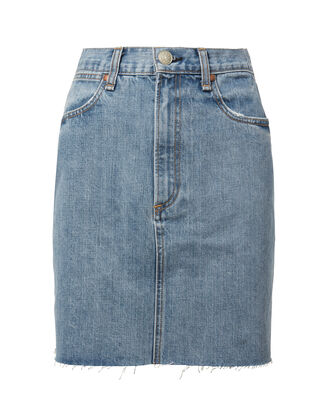 Moss Mini Skirt, DENIM, hi-res