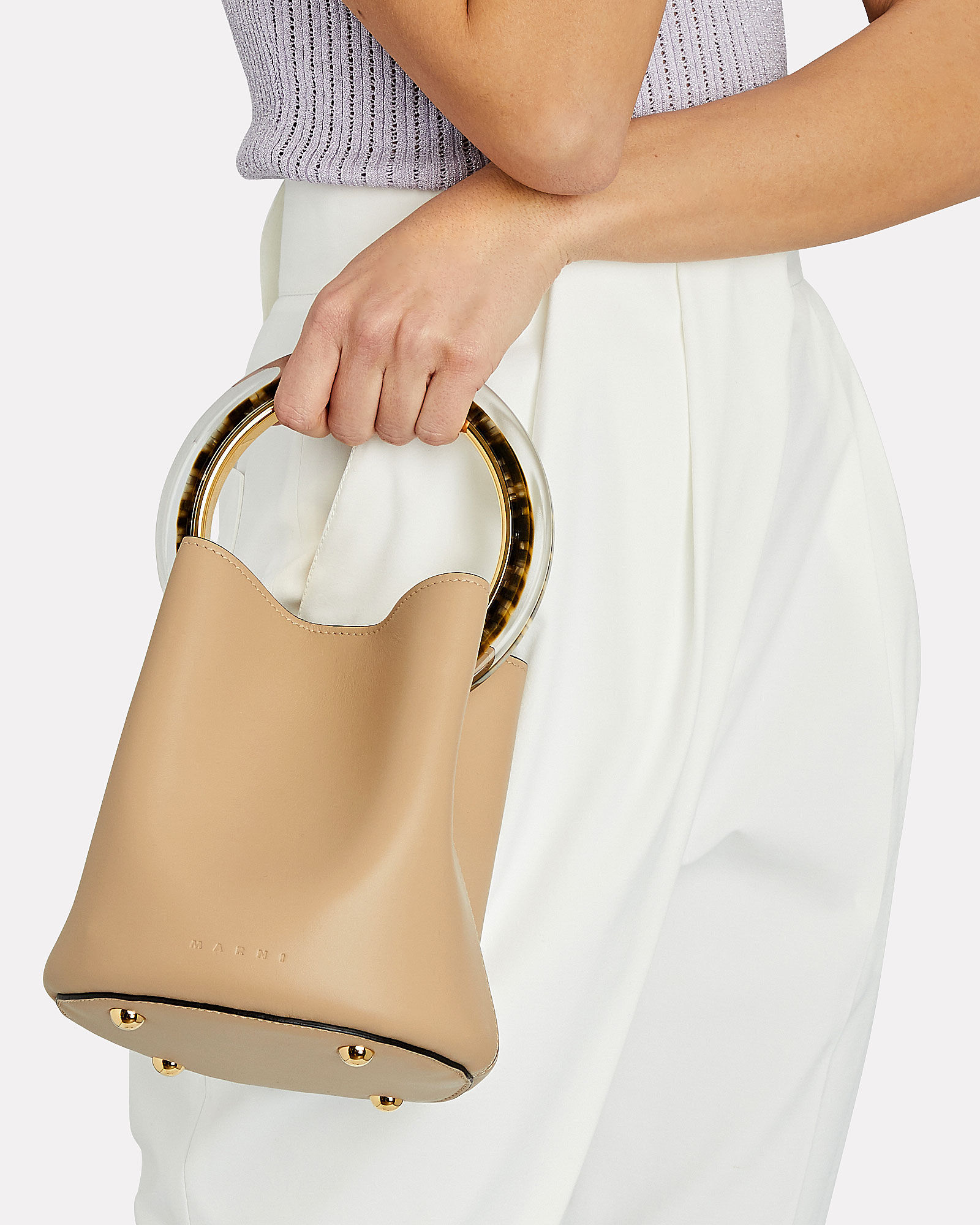Pannier Top Handle Bag, BEIGE, hi-res
