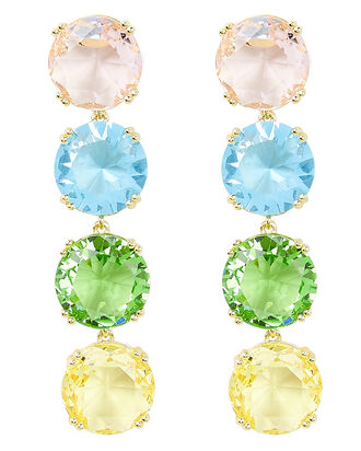 Rainbow Crystal Earrings, MULTI, hi-res