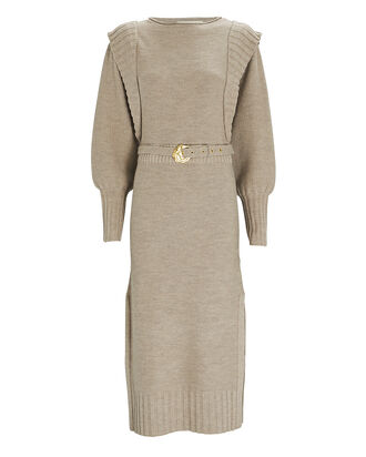 Justine Wool Midi Sweater Dress, BEIGE, hi-res