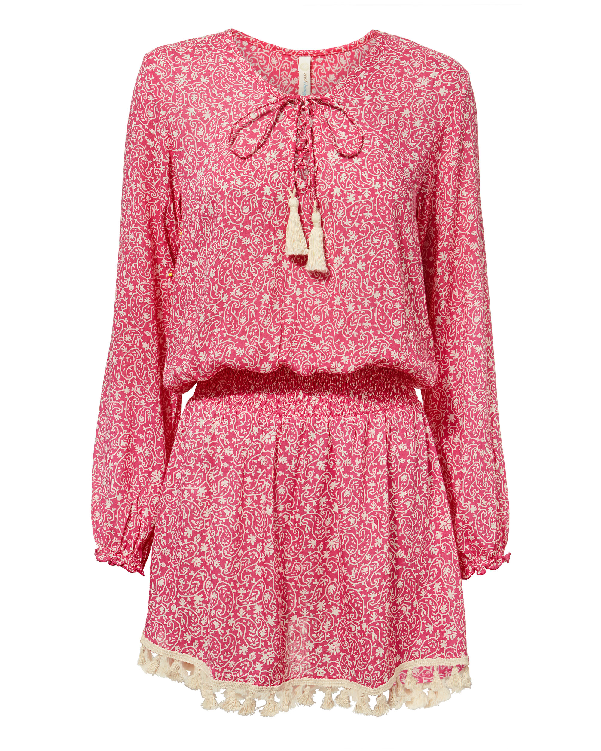 Eden Paisley Dress, PINK, hi-res