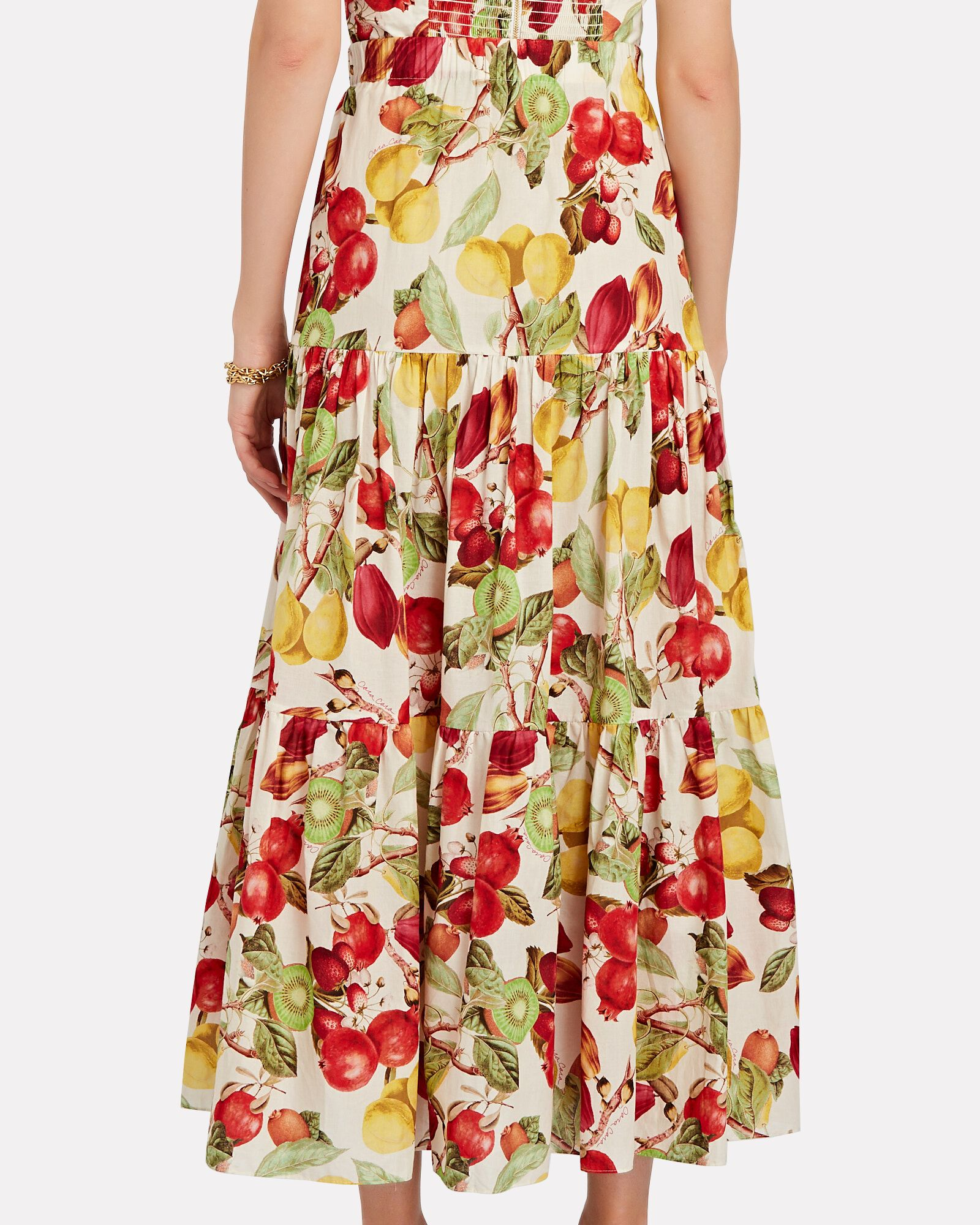 Melanie Tropical Fruit Midi Skirt, MULTI, hi-res