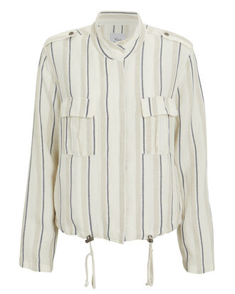 Rowen Jacket, WHITE/STRIPE, hi-res