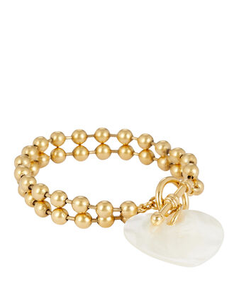 Heart On Your Sleeve Bracelet, GOLD, hi-res