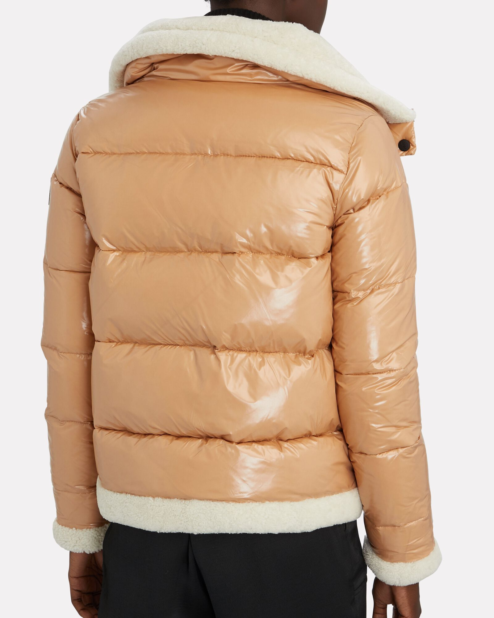 Willa Shearling Trimmed Puffer Jacket, BEIGE, hi-res
