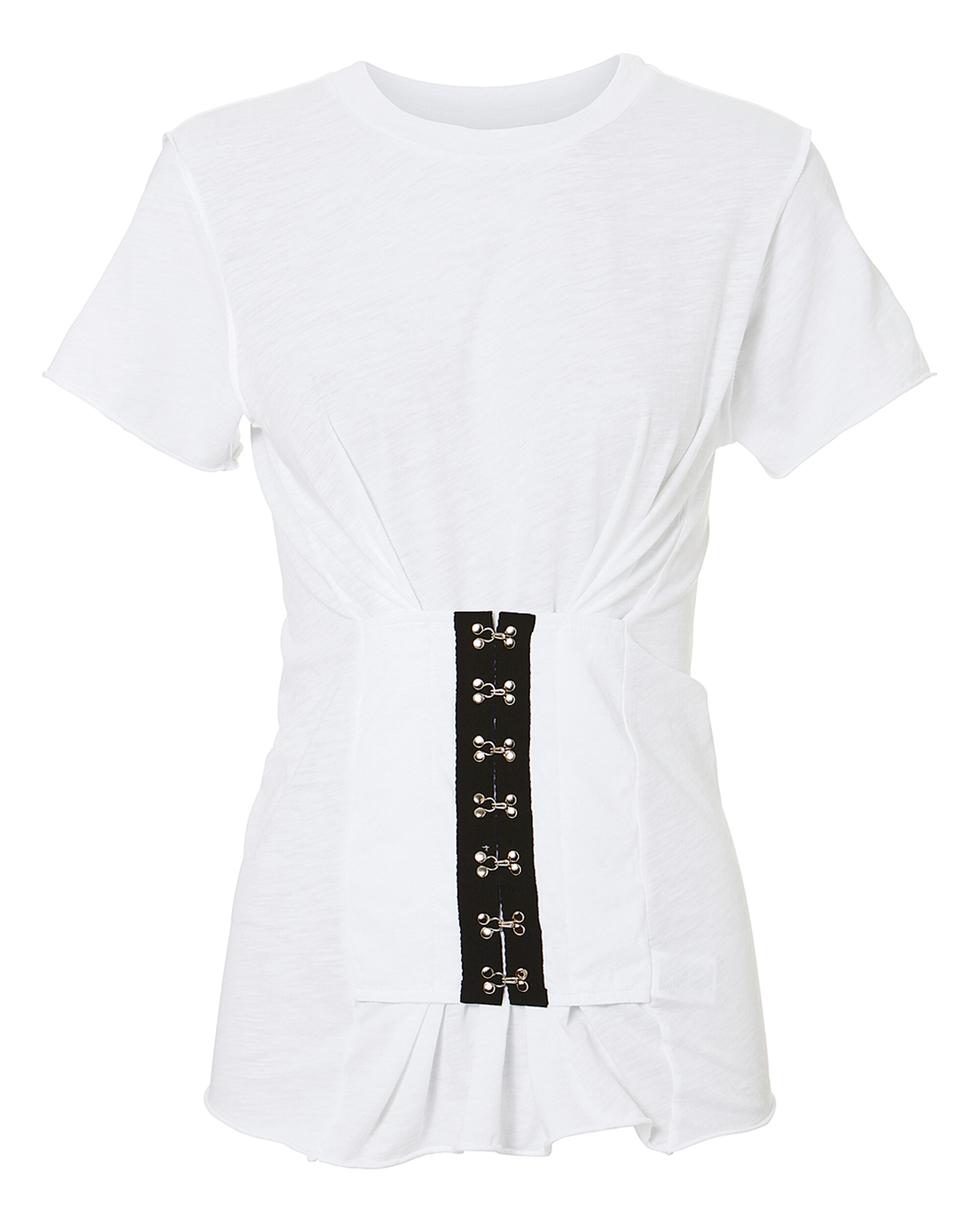 Hook And Eye T-Shirt, WHITE, hi-res