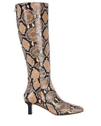 Cicely Python-Embossed Knee-High Boots, BEIGE, hi-res