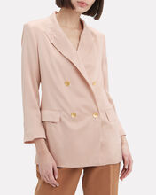 Taryn Silk Double Breasted Blazer, PINK, hi-res