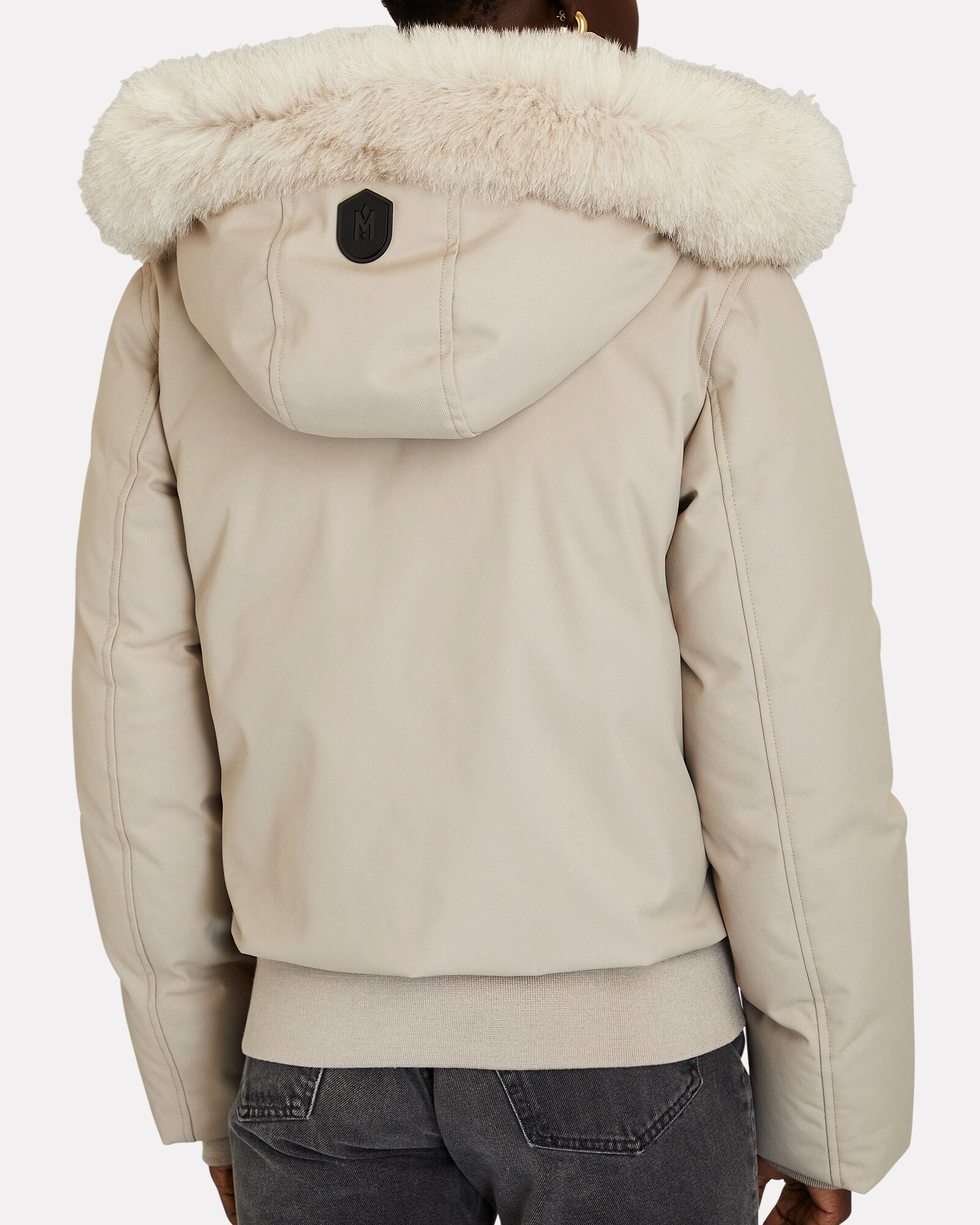 Cory Cropped Hooded Puffer Jacket, BEIGE, hi-res