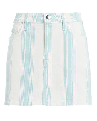 Le Mini Ombre Denim Skirt, IVORY/BLUE STRIPE, hi-res