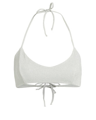 Arena Scoop Neck Bikini Top, SILVER, hi-res
