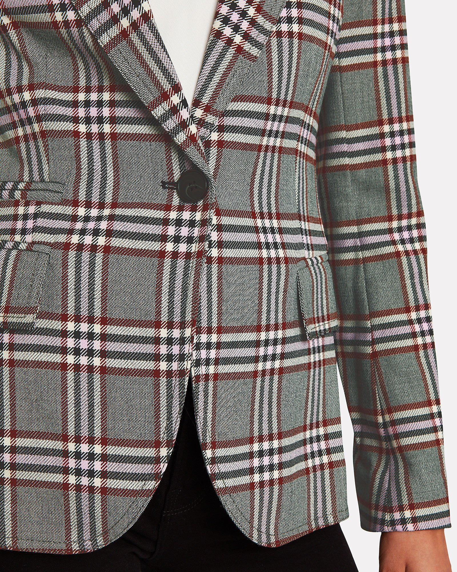Plaid Twill Blazer, MULTI, hi-res