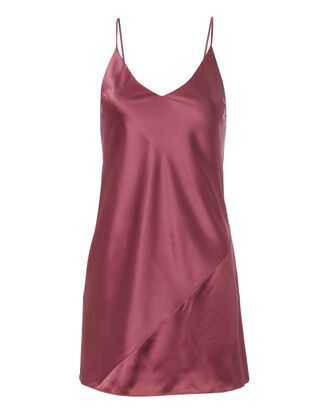 Nectar Mini Slip Dress, RED, hi-res