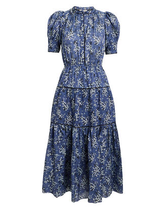 Corrine Cornflower Dress, BLUE FLORAL, hi-res