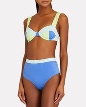 Lilo High-Waist Bikini Bottoms, BLUE, hi-res