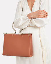 Rose Leather Tote, BROWN, hi-res