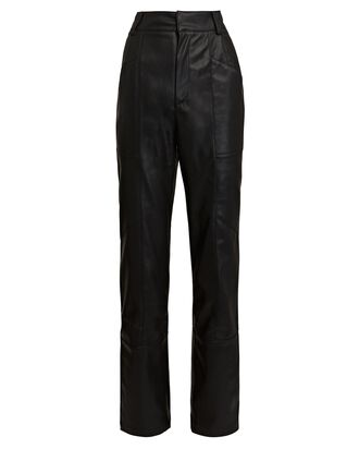 Katie Vegan Leather Pants, BLACK, hi-res