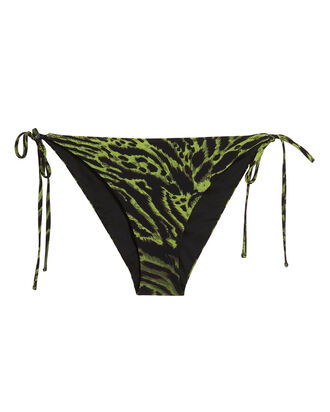 Tiger Print Bikini Bottoms, GREEN/BLACK, hi-res