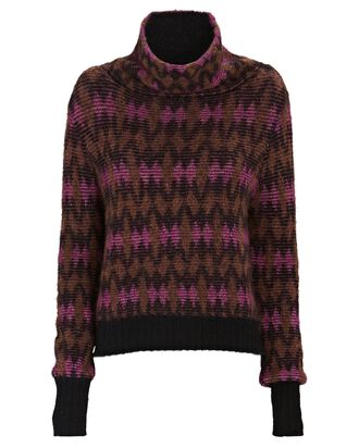 Davis Jacquard Cowl Neck Sweater, MULTI, hi-res