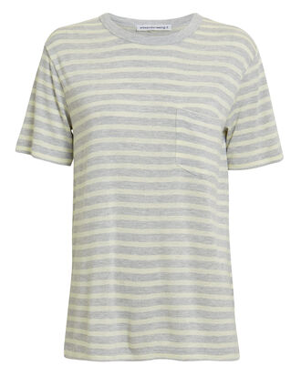 Striped T-Shirt, GREY/CREAM, hi-res