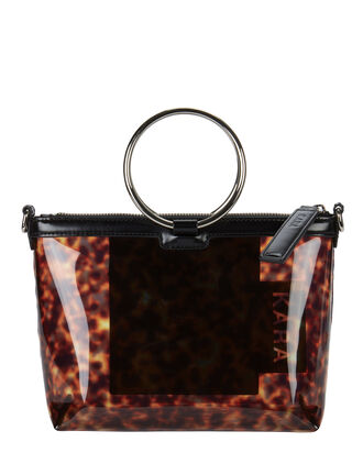 Tortoiseshell PVC Crossbody Bag, BROWN, hi-res