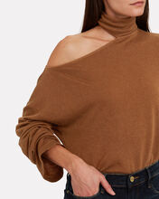 Detached Mock Neck Sweatshirt, BROWN, hi-res