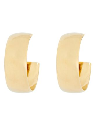 Classic Hoop Earrings, GOLD, hi-res