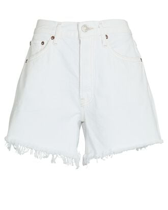 Parker Long Denim Shorts, PANNA COTTA, hi-res
