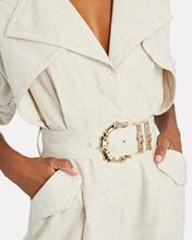 Hanbury Belted Cotton-Blend Jumpsuit, IVORY, hi-res