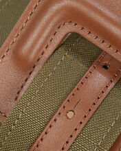 Maeva Army Canvas Belt, GREEN, hi-res