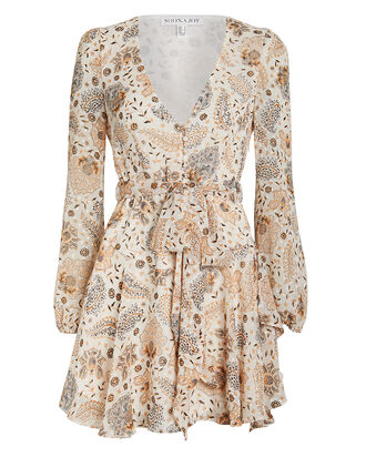 Miller Floral Crepe Mini Dress, IVORY/FLORAL, hi-res