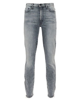The Swooner Ankle Zip High-Rise Jeans, VINTAGE CHARCOAL, hi-res
