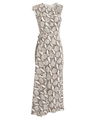 Beale Asymmetrical Cut-Out Dress, SNAKESKIN PRINT, hi-res