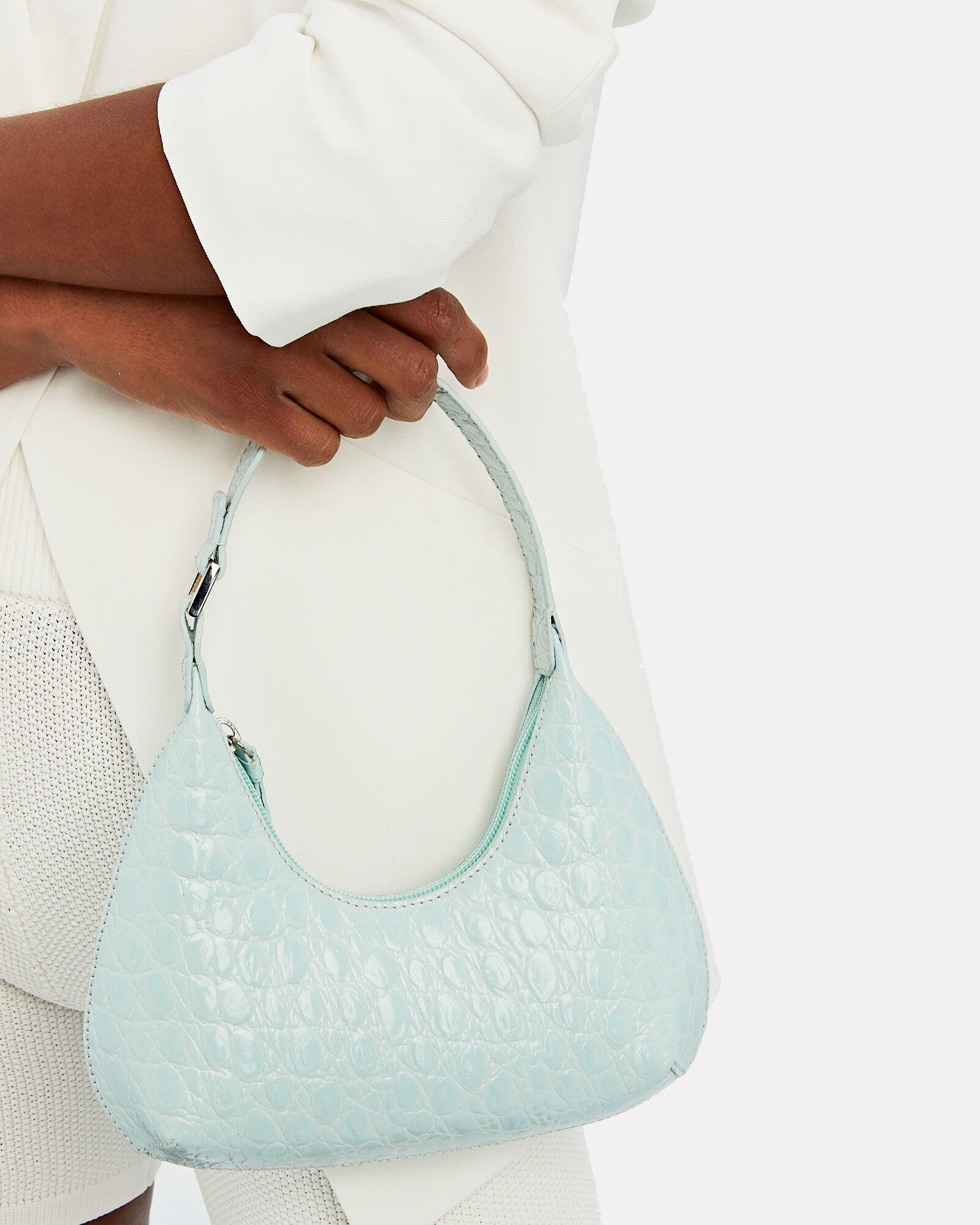 Baby Amber Croc-Embossed Leather Bag, BLUE-LT, hi-res