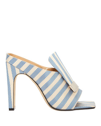 Portofino Striped Sandals, BLUE, hi-res