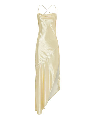 Goldie Champagne Asymmetrical Gown, GOLD, hi-res