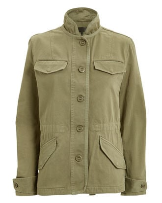 Daniella Washed Jacket, OLIVE, hi-res