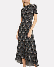 Floral-Printed Knit Dress, BLACK FLORAL, hi-res