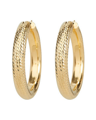 Textured Chunky Hoop Earrings, GOLD, hi-res