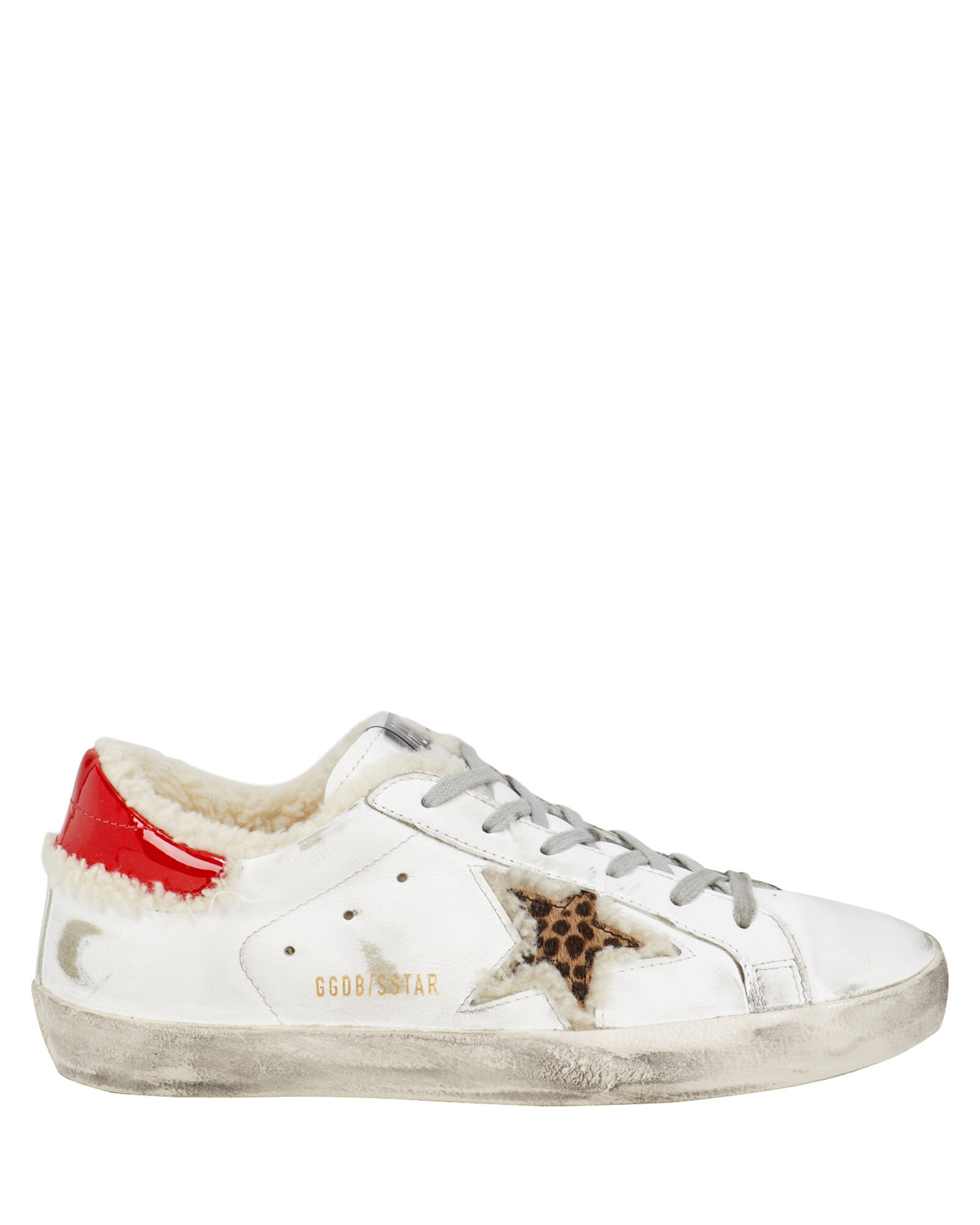 Superstar Shearling Leopard Low-Top Sneakers, WHITE/LEOPARD, hi-res