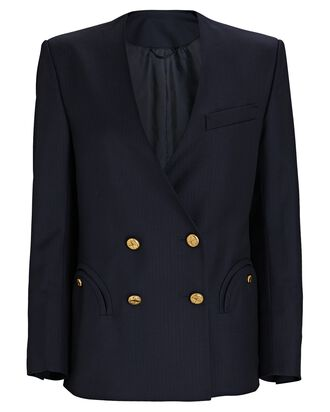 Spirit Double-Breasted Blazer, NAVY, hi-res