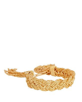 Miki Braided Fringe Bracelet, GOLD, hi-res