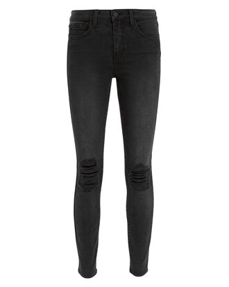 Margot Graphite High-Rise Ankle Skinny Jeans, DARK GREY DENIM, hi-res