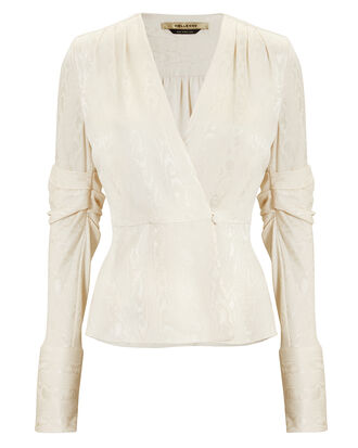 Cassie Brocade Jacket Top, IVORY, hi-res